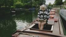 Little Boots on a barge for Pocket TV (Pocket TV) Tags: victoria pop littleboots electropop hesketh pockettv