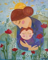 I will help you grow (Regina Lord (creative kismet)) Tags: baby art painting acrylic child mixedmedia mother motherhood