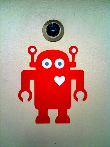Shiny Heart Spotting: Robot with heart at iStrategyLabs in DC