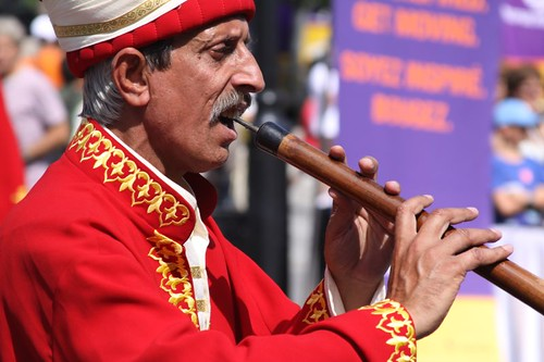 Turkish performance in downtown Montreal.