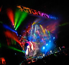 AC DC Concert Stage (Montreal) - Colorful Lights (Anirudh Koul) Tags: black ice rock acdc concert tour stadium montreal stage review roll olympic rocknroll olympicstadium blackice concertstage stageconcert blackicetour acdcmontreal lastfm:event=1020930 upcoming:event=4129927