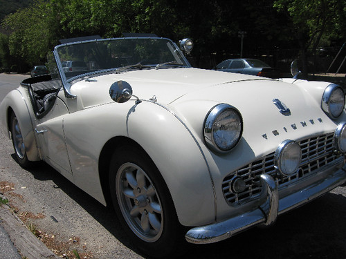 1963 Triumph TR3B Roadster For Sale Passenger Front - a