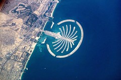 one of Dubai's Palm Islands (by: Commander Leroy Chiao from the International Space Station, public domain)