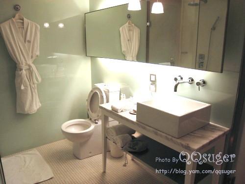 你拍攝的 浴室。