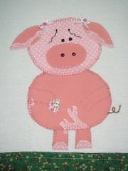 detalhe da porquinha pano de prato (*Sonhos em Retalhos*) Tags: patchwork cozinha patchcolagem panodeprato