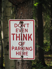 """No Parking"" sign (Arthur Chapman) Tags: usa sign alaska noparking unitedstatesofamerica parkshighway geo:country=unitedstatesofamerica geocode:method=googleearth geocode:accuracy=500meters tatlanikatradingcompany"