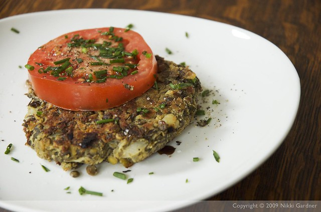 French Lentil Burger