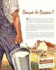 1947--banquet-for-bacteria (x-ray delta one) Tags: industry vintage magazine ads advertising suburban ad suburbia science retro nostalgia research 1940s chemistry 1950s electricity americana 1960s atomic populuxe housewife scientist coldwar popularscience popularmechanics magazineillustration