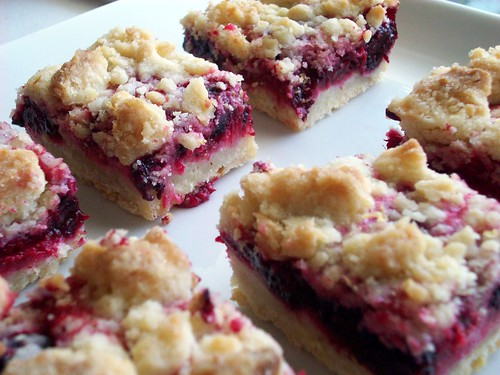 Raspberry and Blackberry Crumb Bars - Completely Delicious