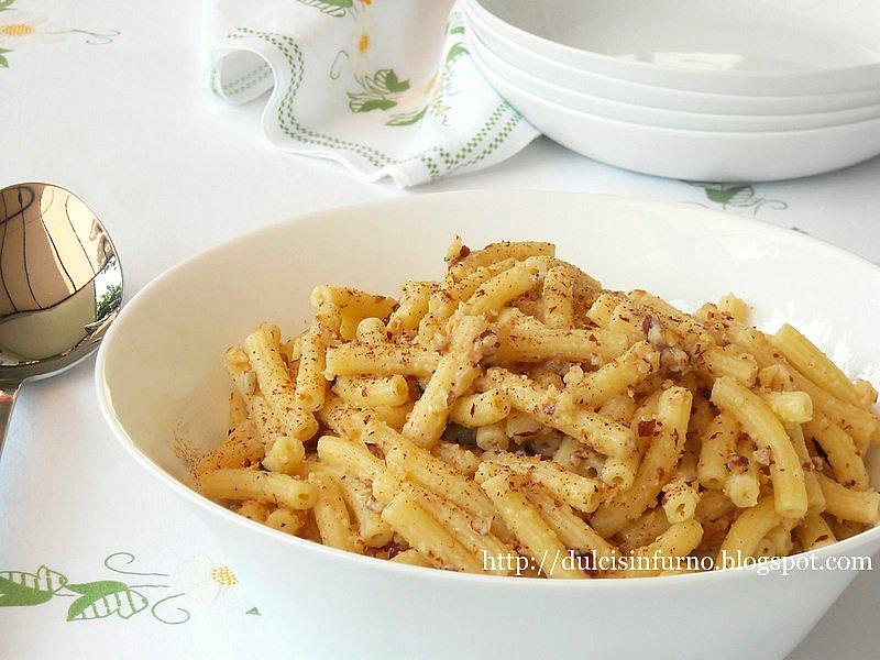 Pasta alle Nocciole-Pasta with Hazelnuts