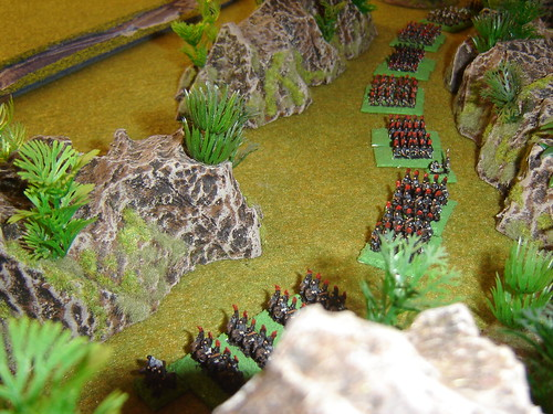Kosaka force marches through hills