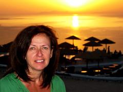 What, No Drinks? (rutthenut) Tags: chris sunset summer portrait holiday powershot santorini greece e1 2009 oia greekisland