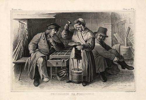 001-Arreglo de zapatos- Varsovia 1841-Album de dibujos de Varsovia- Piwarski