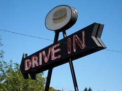 Drive In, Rice Hill, OR (Robby Virus) Tags: sign oregon restaurant drivein ricehill hamburers