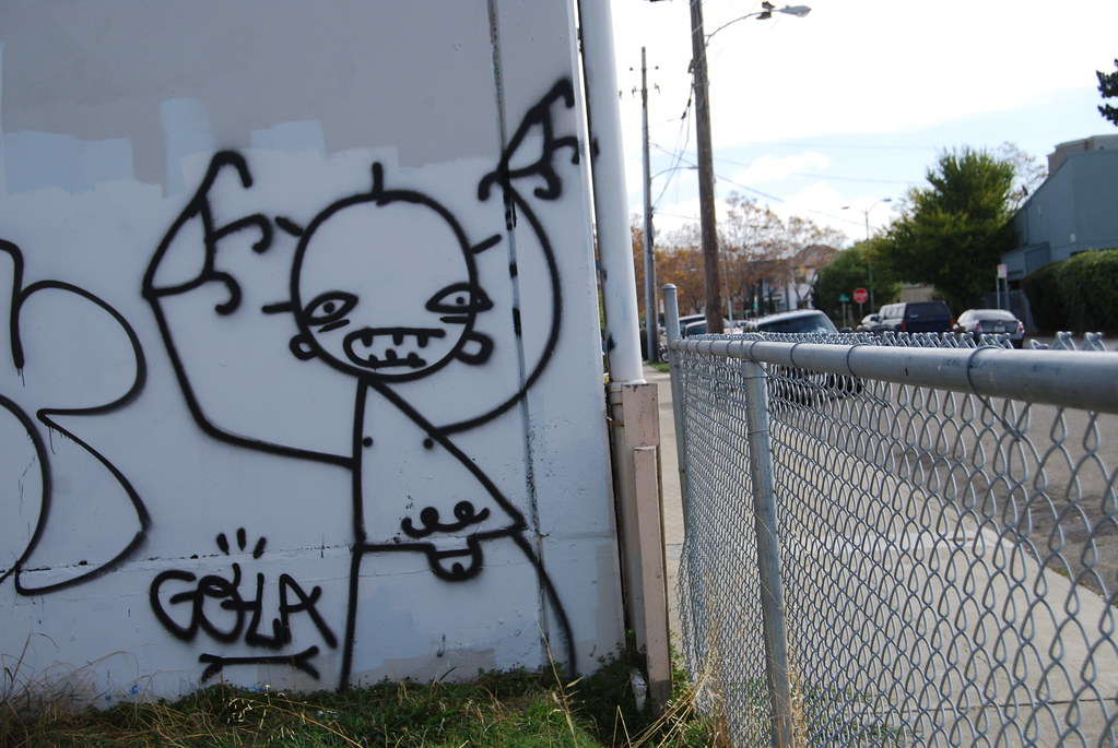 GOYA Graffiti Stick Figure Character - Oakland California.