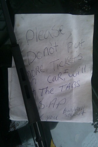 Passive Aggressive Parking Note