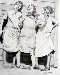 Goofy Girls From the 1920's (Justus Portraits) Tags: 1920s girls portrait goofy pencil vintage artist