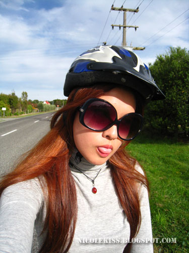 me and my bicycle helmet