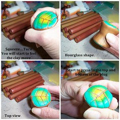 How to reduce a polymer clay cane. 2 of 6 (clayangel_sc) Tags: art beauty fashion necklace beads artist handmade originalart ooak polymerclay fimo clay gift canes sculpey handcrafted wearableart accessories bracelets earrings etsy acessories brooches necklaces polymer artjewelry hypoallergenic adornments artisanjewelry canework handmadebeads artbeads handcraftedbeads pcagoe notpainted polymerclayjewelry polymerclaycanes oneofakindjewelry fauxjewelry southcarolinaartist jewelryartisan boldjewelry clayangel oneofakindpiece clayangelsc nopaintisinvolved athousandflowers