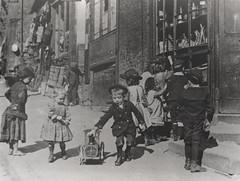 058366:Children playing Pilgrim Street Newcastle upon Tyne Unknown c.1890 (Newcastle Libraries) Tags: newcastleupontyne tynesidelifeandtimes