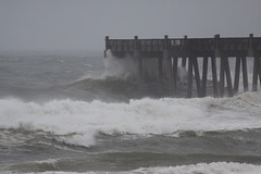 Wayward Wind (Mona Hura) Tags: county storm beach gulfofmexico mexico pier fishing gulf florida tropical ida pensacola escambia 6741