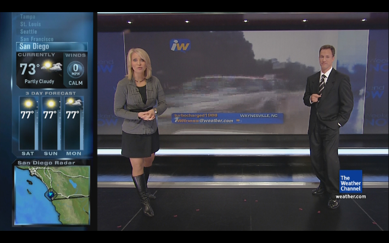Weather Channel Heather Tesch Legs