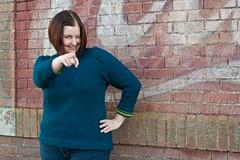 the chooch point (365.2.310) (splityarn) Tags: selfportrait me northampton knitting handknit ez year2 hybrid fo 365days valleyyarns seamlesshybrid