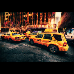 Cab Attack I HDR (hans jesus wurst) Tags: nyc newyorkcity usa america photoshop dc lab glow manhattan taxi snapshot border yellowcab sigma 1020mm unsharpmask vignette orton hdri lucisart photomatix digitalcrossprocessing labcolor tonemapping hsm radiocitymusic 1456 crossfilter pseudohdr oneexposure highdynamicrangeimage nikcolorefexpro canoneos400d tonalcontrast hansjesuswurst moritzhaase cabattackihdr labmagic