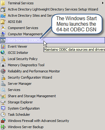 how to create dsn in windows 8