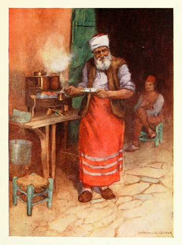 003- Un Kafedji- Constantinople painted by Warwick Goble (1906)