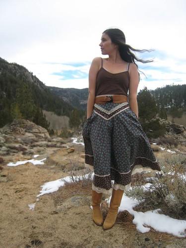 Lacy Gunne Sax Prairie Skirt