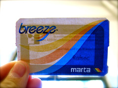 MARTA Breeze Ticket, photo by Oran