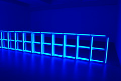 Dan Flavin, untitled (to Helga and Carlo, with respect and affection) [installation view], 1974 (16 Miles of String) Tags: light sculpture art chelsea fluorescent sculptures danflavin flavin fluorescentlight davidzwirner zwirner seriesandprogressions artcat10556