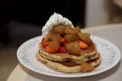 "These are probably my ""masterpiece"" pancakes (Nick, Programmerman) Tags: food fruit pancakes awesome whippedcream brilliant 5014 5dii"