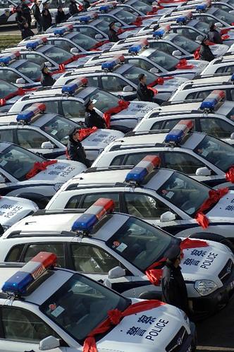 陕西省公安厅下发给各基层单位了247辆汽车