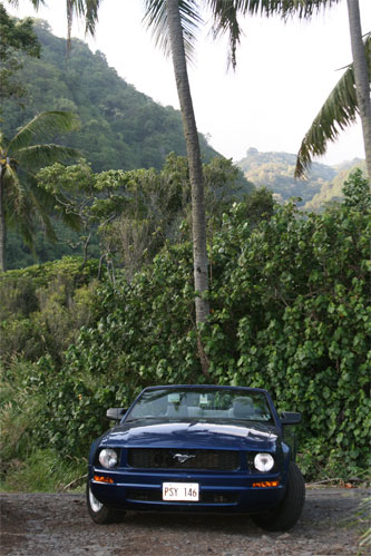 Our Rented Convertible on the Road to Hana