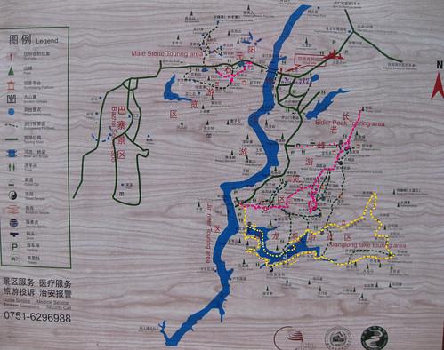 丹霞游览地图