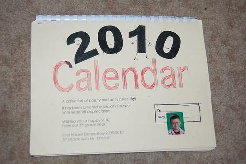 Adam's calendar gift - Front
