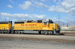 Union Pacific EMD GP40-2 locomotive 1407, east end, Tucson Yard, Arizona, January 14, 2010 (Ivan S. Abrams) Tags: railroad up train trains goods unionpacific motive freighttrains railyard railways railroads railyards freighttrain uprr shuntingyard unionpacificrailroad electricnikon d700 onlythebestare ivansabrams trainplanepro countysouthern ivanabrams shuntingyards traingoods trainsarmour yellowharbor graytucspnarizonapima arizonasoutheast arizonaemdgeelectromotive dieselelectro dieselgeneral abramsandmcdanielinternationallawandeconomicdiplomacy ivansabramsarizonaattorney ivansabramsbauniversityofpittsburghjduniversityofpittsburghllmuniversityofarizonainternationallawyer