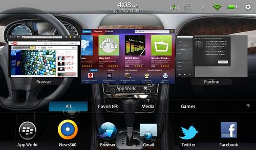 BlackBerry PlayBook - Multitask