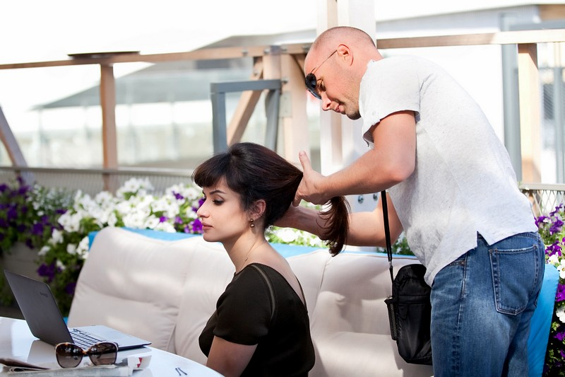 Тина Канделаки - причёска для фото