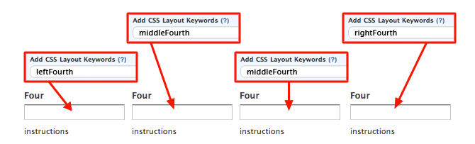 CSS Keywords leftFourth middleFourth rightFourth