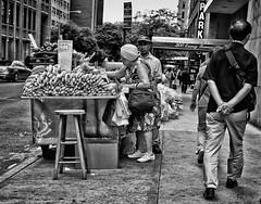 167/365 - June 16, 2011 - Selective (Shane Woodall) Tags: street blackandwhite newyork june 35mm manhattan 365 fruitstand 2011 project365 silverefexpro 3652011 fujix100 shanewoodallphotography