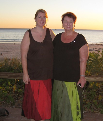 Mum  & I in our new skirts