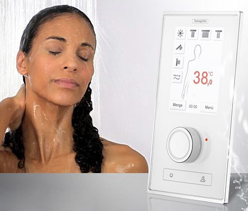 Touchpad shower controller