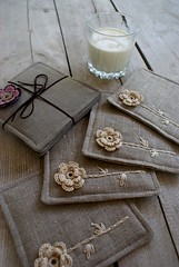 .... (SandraStJu) Tags: flowers cup kitchen breakfast table milk tea linen housewares organic decor coaster serving tabledecor