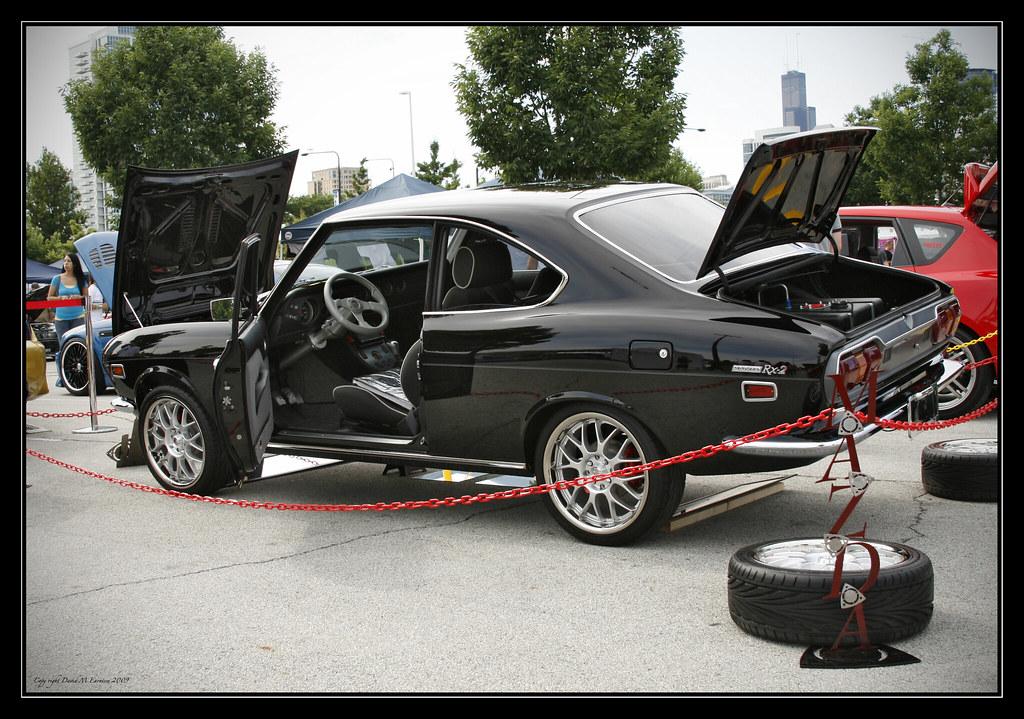 My Mazda Rx-2 at H.I.H Car show Chi-town