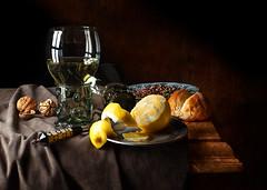 new roemer still life (kevsyd) Tags: stilllife lemon walnuts peel roemer kevinbest dutchstilllife peiterclaez claeszheda