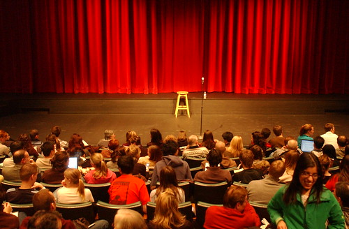 Audience at Humanities Theatre
