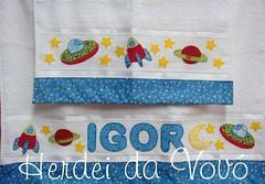 Toalha Igor e o espao... (Herdei da Vov) Tags: estrela artesanato craft nave patch patchwork igor espao espacial manualidades bordado discovoador toalhas patchcolagem espaonave